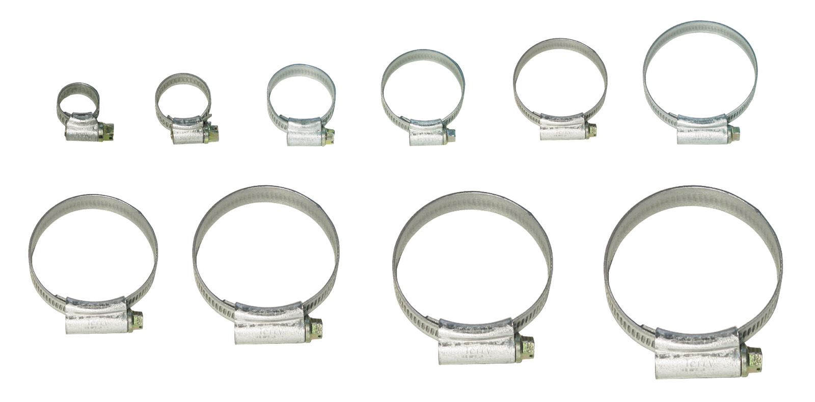 Pearl PHC12X Hose Clips 10 Pieces Mild Steel MOO 11mm-16mm Pipe Jubilee Engine