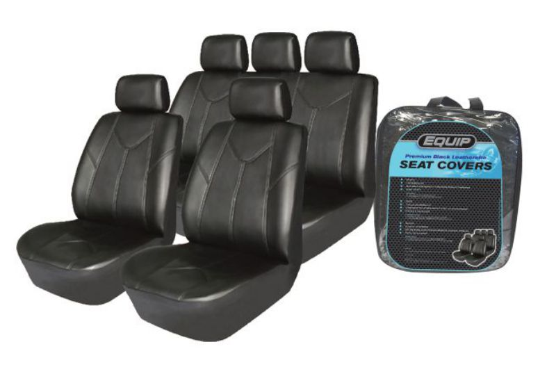 Universal Leather Look Equip ELS002 Premium Leatherette Seat Cover Full Set