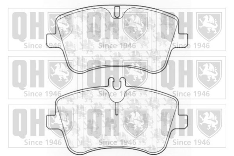 Genuine QH Brake Pad Braking System Front Axle Fits MercedesBenz Bp1269